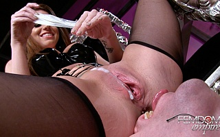 Cuckold Creampie Cleanup Captions  Time to Eat!  Becca